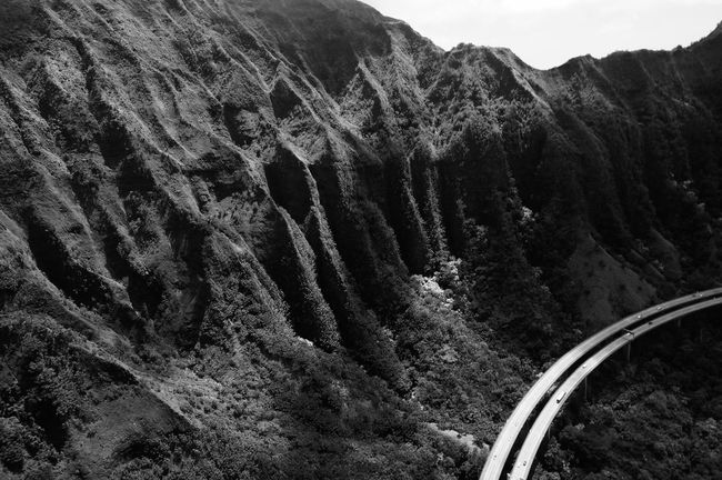 H3 Beauty In Nature Black And White Day Extreme Terrain Fresh On Eyeem  Geology Hawaii Hawaiian Mountains Mountain Mountain Range Mountain Road Nature No People Non-urban Scene Outdoors Physical Geography Remote Rock Formation Rocky Mountains Rugged Scenic Drive Scenics Solitude Tranquility Valley
