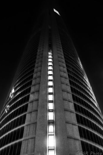 Architecture Building Exterior Built Structure Check This Out Chek This Out  EyeEm Gallery Illuminated Low Angle View Modern Night No People Outdoors Road To Heaven Sky Skyscraper Torres De Madrid Welcome To Black