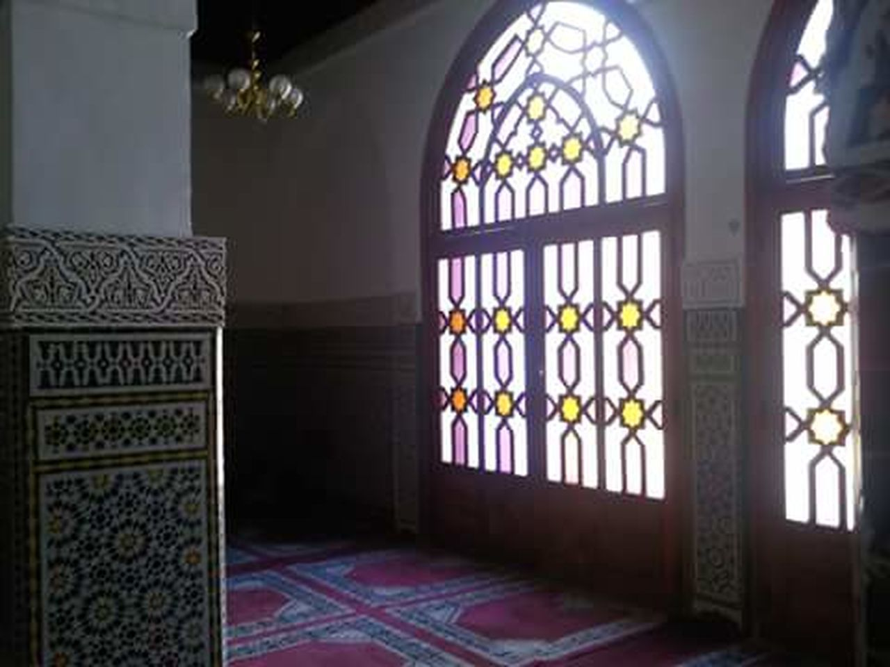 Inside a mosque. Indoors  Place Of Worship Arabic Architecture ArabicStyle Mosque