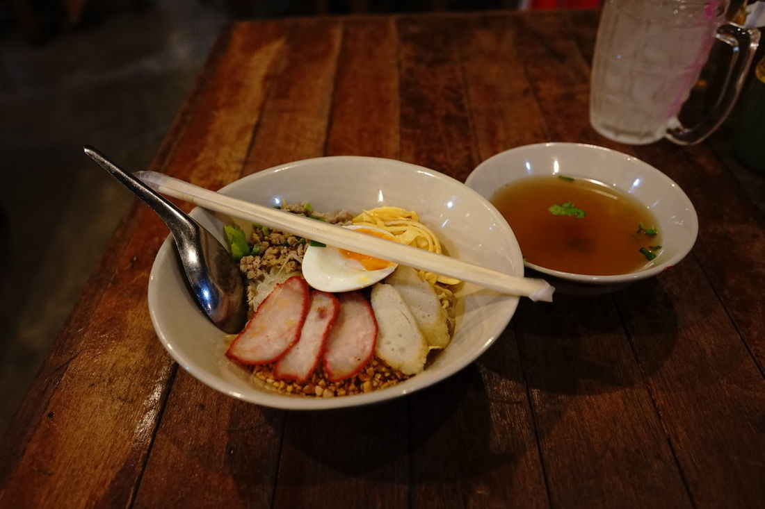 Thai noodle with egg and soup Thaifood ThaiFoodGoodTaste Thaifooddelicious Food Plate Ready-to-eat Meal Freshness Processed Meat Fried Garnish Gourmet MeatSLICE Unhealthy Eating Food State Chopsticks No People