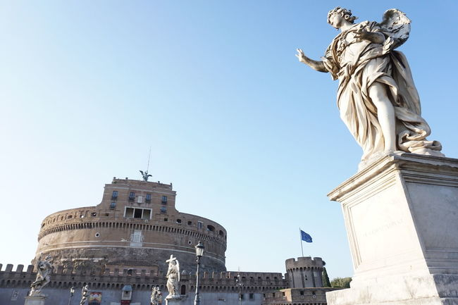 #architecture #castle  #Castle Sant' Angelo #europe #History #history Museum #holiday #italy #museum #roman #Rome #statue #trip #historical