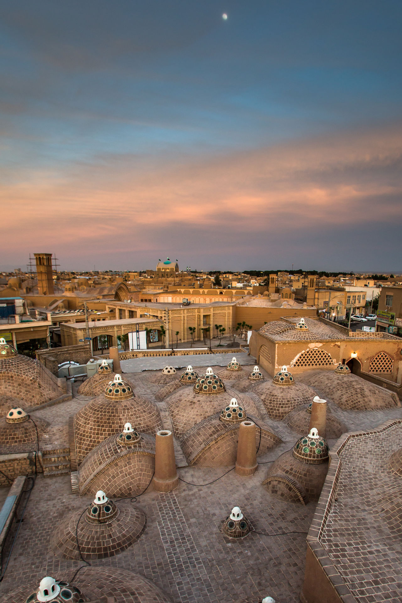 Cityscape Cityscapes Dusk Elevated View Iran Landscape Middle East Persia Rooftops Sky Sunset TOWNSCAPE Travel Destinations