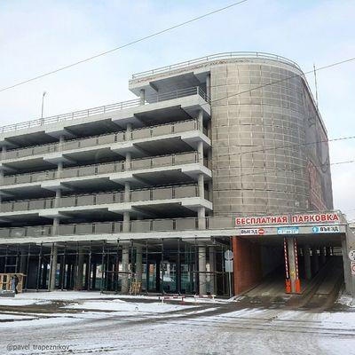 20141109 , Россия , Новосибирск , улицаПокрышкина . Перехватывающая бесплатная парковка / Russia, Novosibirsk. Intercept free parking.