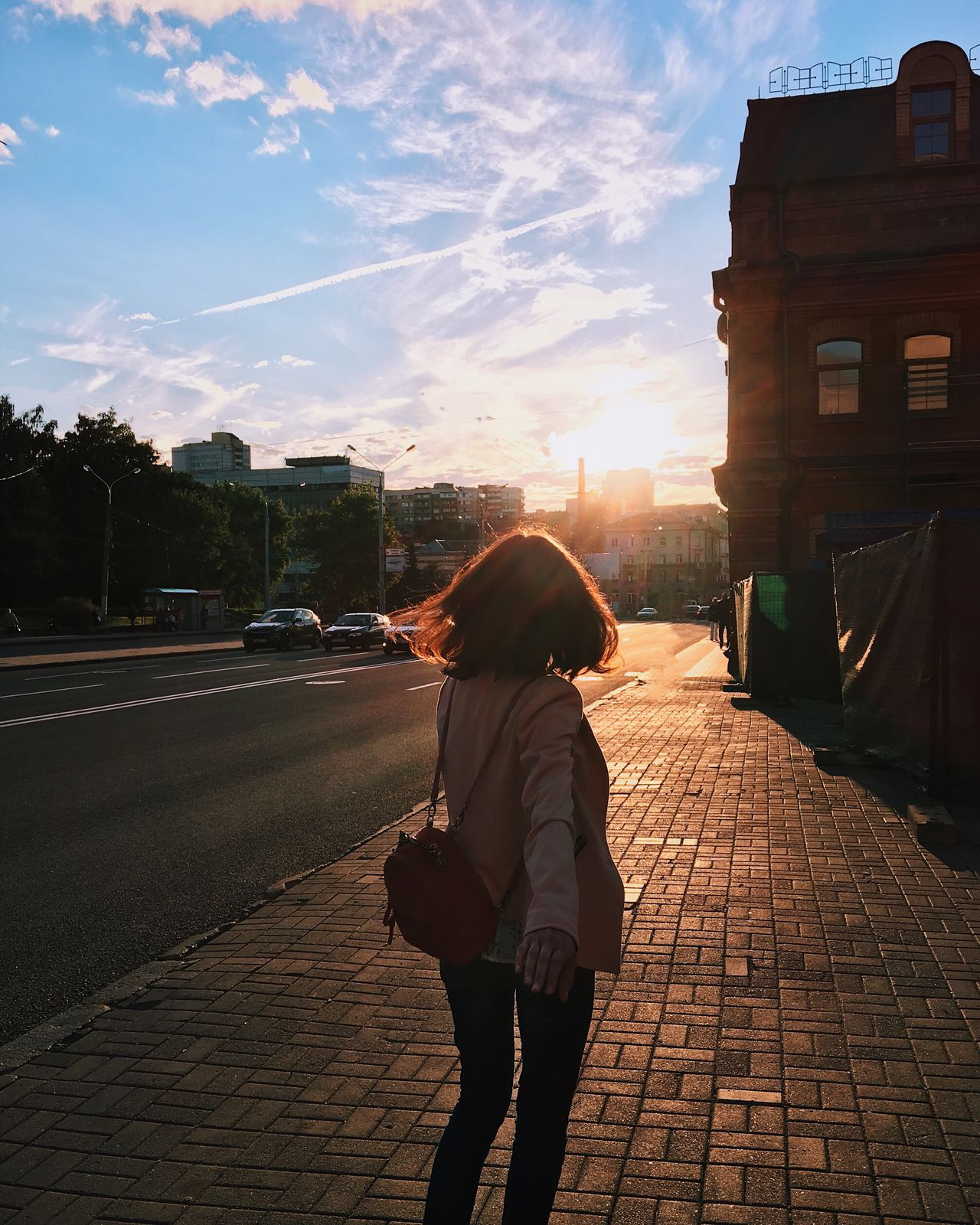 Golden hour Woman Real People One Person Outdoors Street Golden Hour Full Length Sunlight Lifestyles City People