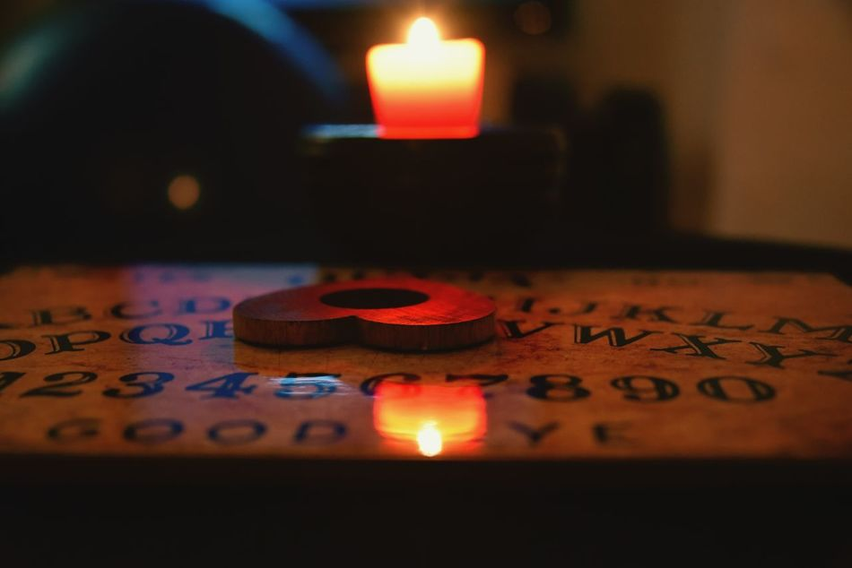 Q= QuestionableDo you wanna play with me? Ouija Board  Afternoon Candle Hobbyphotography Photography