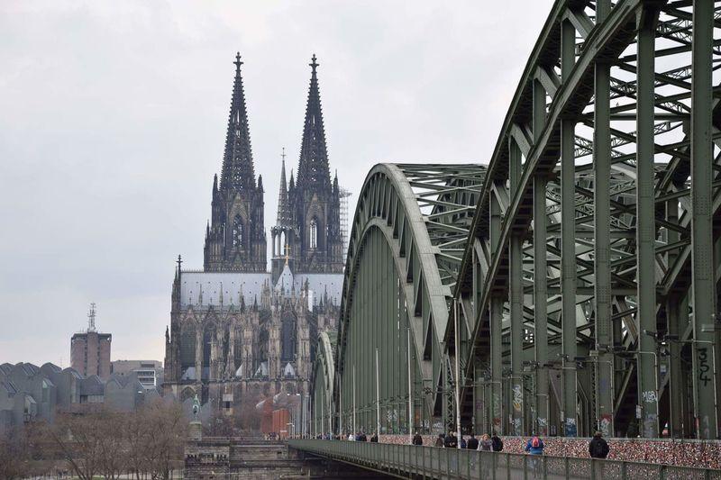 Köln Kölner Dom Kölner Dom Cathedral Köln, Germany Kölnbrucke Architecture Travel Destinations City Architecture Cityscape Hohenzollernbrücke