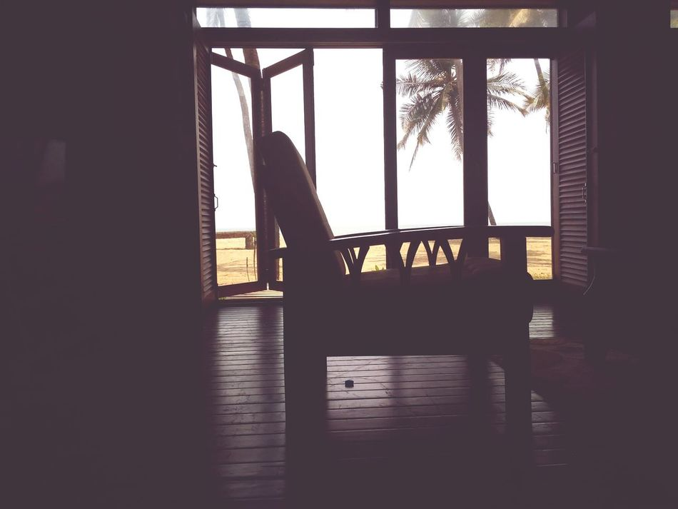 Window Silhouette Indoors  Architecture Water Beach Resort Vacation Comfort India Low Angle View Change Cottage Chair Tourism Luxury