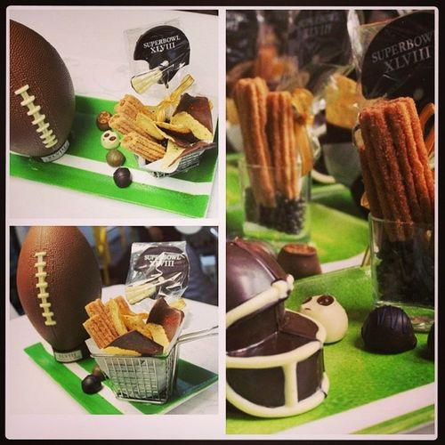 Super Bowl amenities today chocolate chili dipped nachos & cinnamon churros Chocolate Superbowl Amenity Luxury dessert @thepierreny