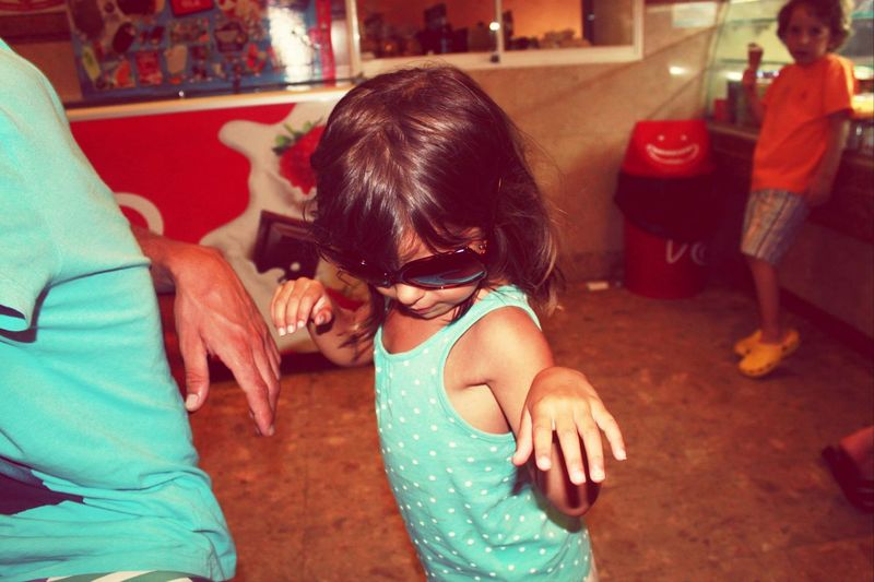 Littleone <3 Big Girls Be Like Missthislittleterror <3The little boy cheking her out though ahah xD