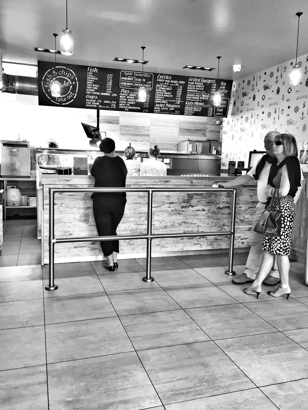 Full Length Two People Real People Illuminated Standing Women Men Lifestyles Night Indoors  City Adult People JoMo Photo IPhoneography Black & White Black And White Blackandwhite Birkdale Streetphotography Street Photography Streetphoto_bw Chip Shop The Street Photographer - 2017 EyeEm Awards The Street Photographer - 2017 EyeEm Awards