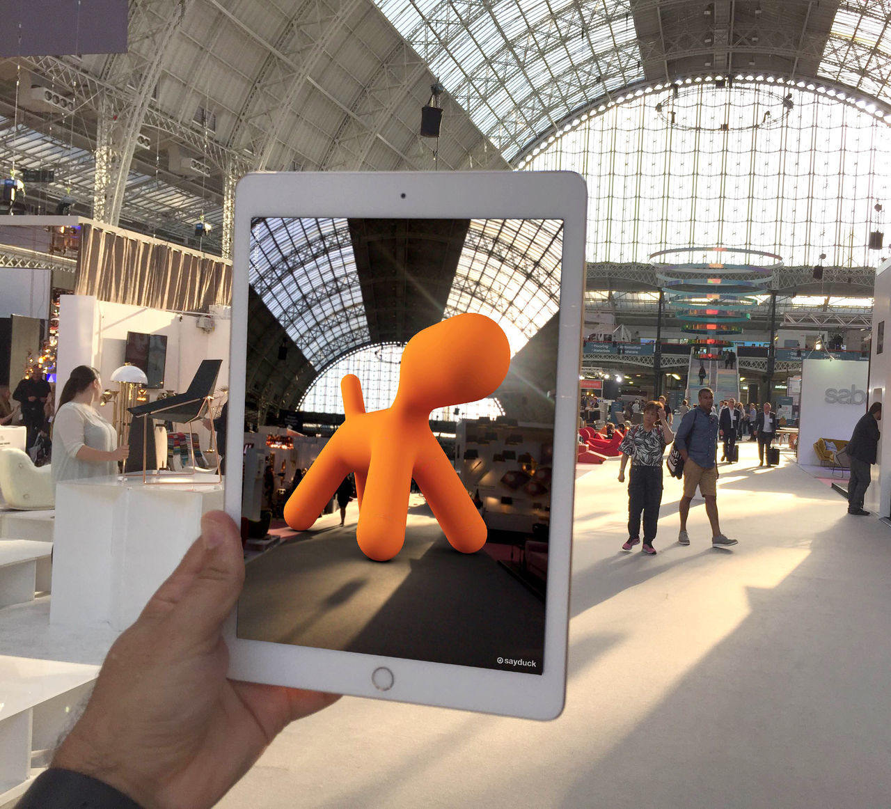 100% Design - Augmented Reality - Magis - Puppy Architecture Augmented Augmented Reality City Furniture Ipad IPad Air 2 Lifestyles London Magis Olympia Orange Color Puppy Reality First Eyeem Photo Apple