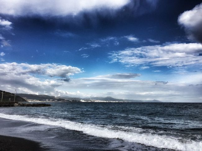 Italia Italy Clouds And Sky Panorama Landscape Sky Taking Photos EyeEm Best Shots IPhoneography Eye4photography  Cloud - Sky Beauty In Nature Blue Blue Wave Seascape Sea And Sky Sea Seaside Liguria Eye4photography  EyeEmBestPics EyeEm Best Shots - Nature EyeEm Nature Lover EyeEm Gallery Eyemphotography