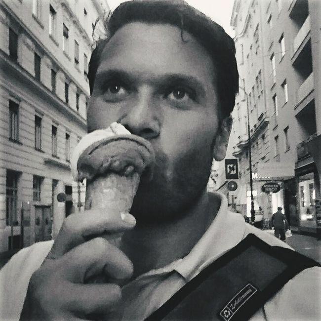 I love icecream Ice Cream Sweet Selfie ✌ PortraitThat's Me Hot In The City Blackandwhite Vienna Summertime