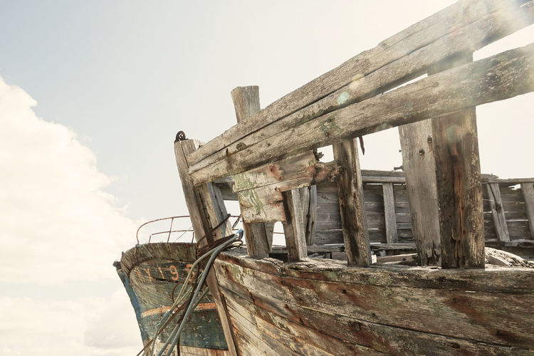 Shipwrecks in Camaret-sur-Mer Abandoned Ancient Civilization Bad Condition Brittany Camaret-sur-Mer Damaged Day Desolate Destruction Fishing Boat France Low Angle View Maritime No People Obsolete Outdoors Retro Run-down Ship Shipwreck Sky Stranded Sunny Day Trawler Wreck