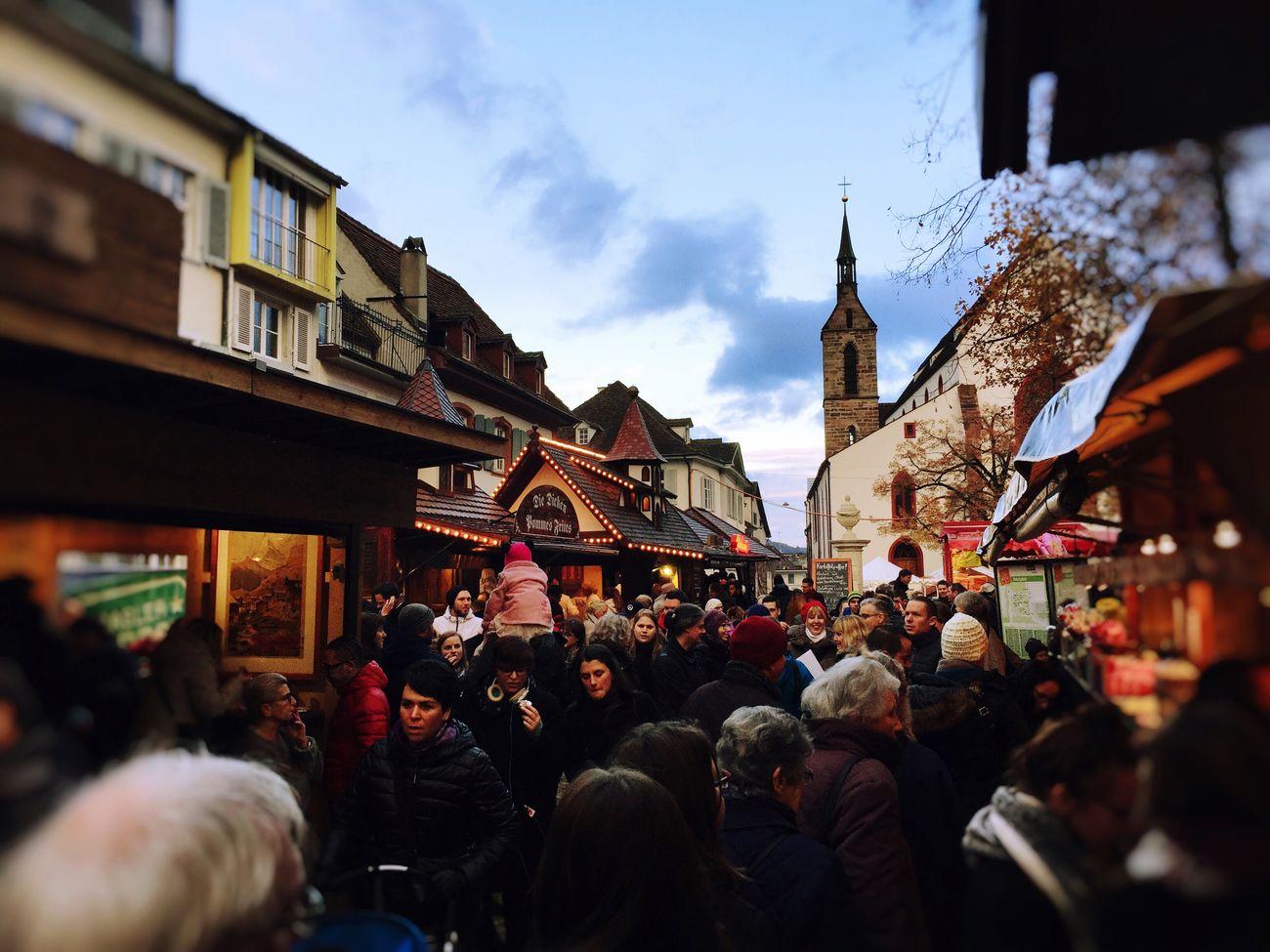 Crowd herbstmesse Street Market Switzerland