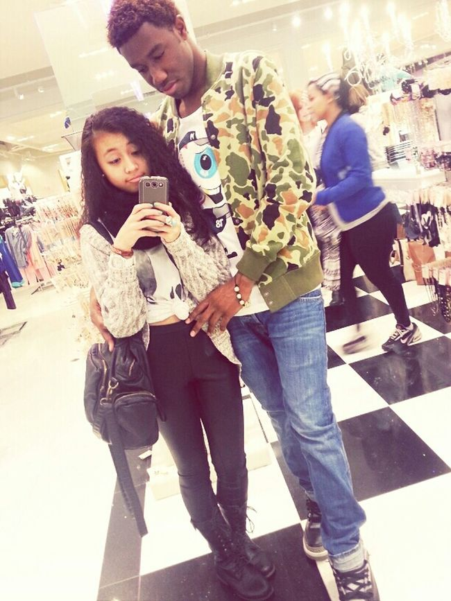 At forever 21 with my bb