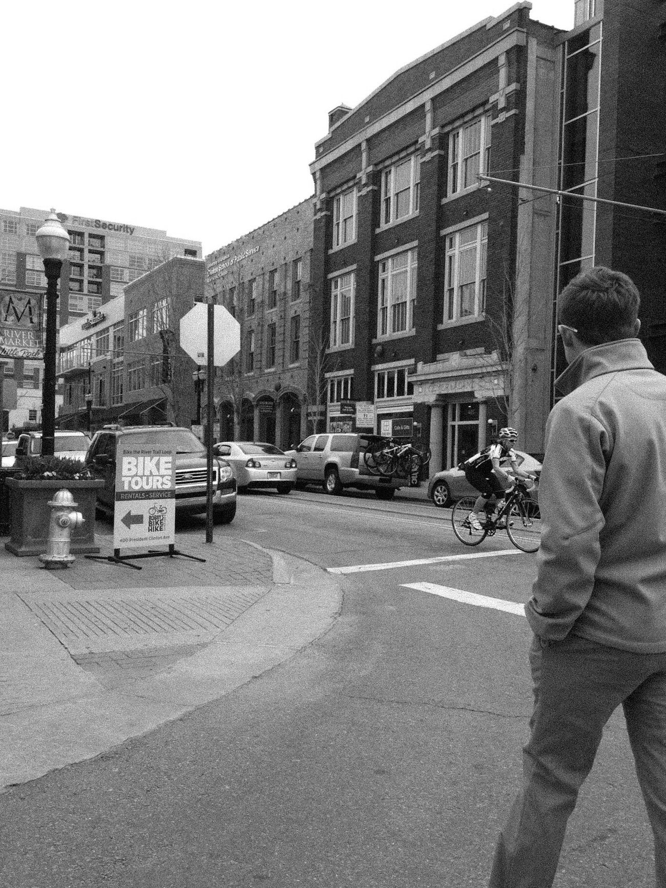 Blackandwhite Black & White Streetphotography City Streetphoto_bw Bicycle Real People Outdoors City Street