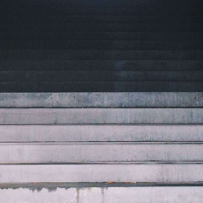 Shades Of Grey Concrete Stairs Monotone Full Frame Repetition Steps