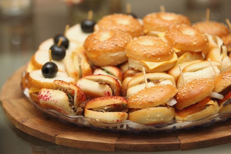 Food Mini Burgers Sandwiches Flash Indoors  Closeup Delicious Yummy 70-200mm F2.8