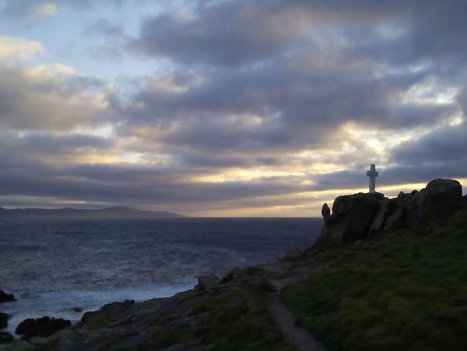 No Filter, No Edit, Just Photography The Purist (no Edit, No Filter) Costa Da Morte A Coruña Galicia, Spain Clouds And Sky Faro Roncudo Cross Colors Nature