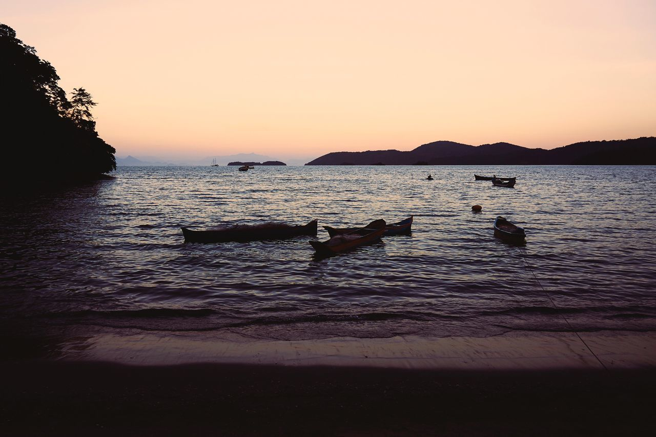 Sunset Beauty In Nature Nature Sea Water Sky Scenics Tranquility Tranquil Scene Nautical Vessel No People Outdoors Day