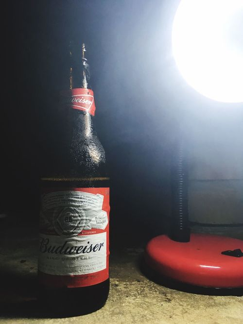 Red Text No People Close-up Night Budweiser Beer Party Birthday
