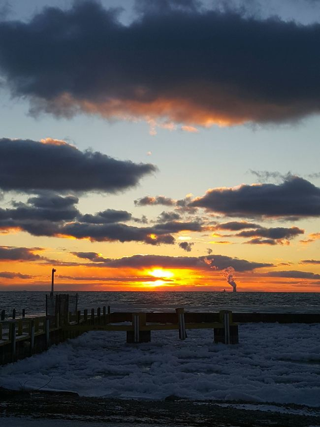 Sunset Hanging Out Beautiful Nature Clouds And Sky Color Nuclear Power Plant Davis Besse Cloud Maker South Bass Island Put In Bay State Park