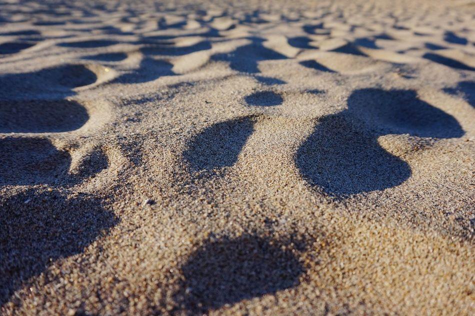 Beachphotography Sand Outdoors Pattern Sunlight No People Close-up Illuminated Geometric Shape Light And Shadow Sand Dune