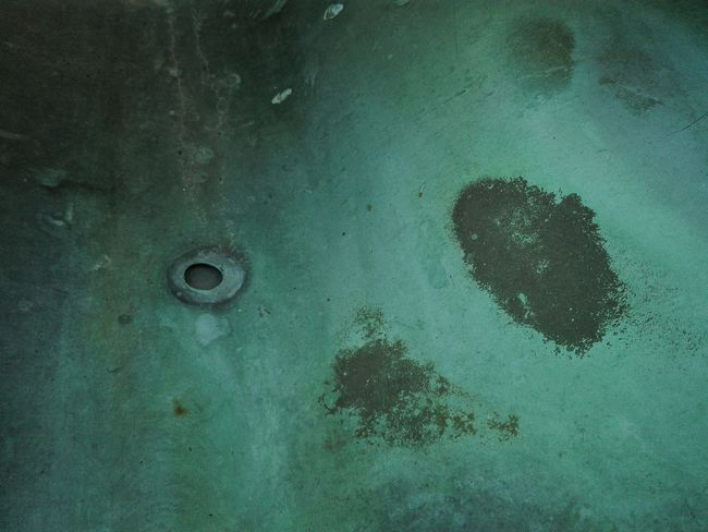 ...weil ich die Farben mag Unintentional Art Abstract Blue Green Turquoise Deterioration Beauty Of Decay