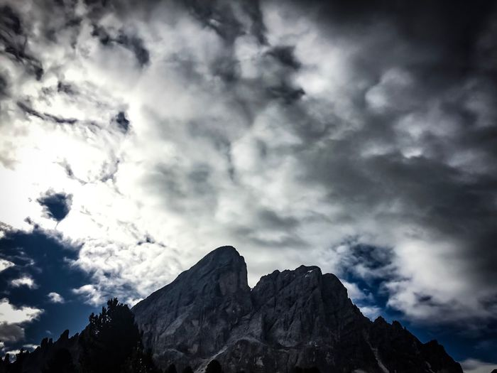 Nature Sky Cloud - Sky Beauty In Nature Scenics Low Angle View Rock - Object Tranquility No People Mountain Tranquil Scene Outdoors Day Landscape