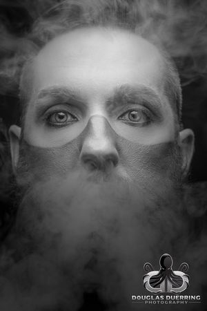 365 days/365 portraits. Tribal mist. 309/365 Proud to be sponsored by Mad Viking Beard Co. Exceptional Photographs Duerringesque EyeEmBestPics First Eyeem Photo The Week On EyeEm 365project2017 Eye4photography  EyeEm Gallery Photographylovers Monochrome_life Black And White Duerringphoto 365project Popular Photos Photographic Memory EyeEm Best Shots EyeEm Selects Close-up Balance And Composure People Headshot Fashion Model Studio Shot Portrait Fashion