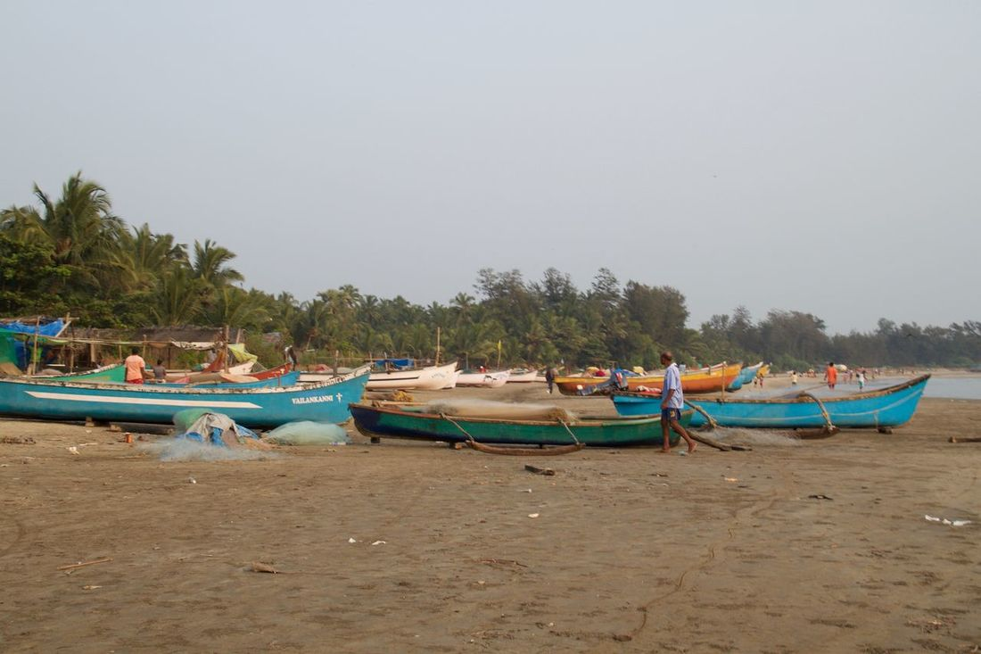 Beach Beauty In Nature Boat Fisherman Boat Fishermen's Life Goa India Mode Of Transport Moored Nature Nautical Vessel North Goa Outdoors Sea Tranquility Transportation