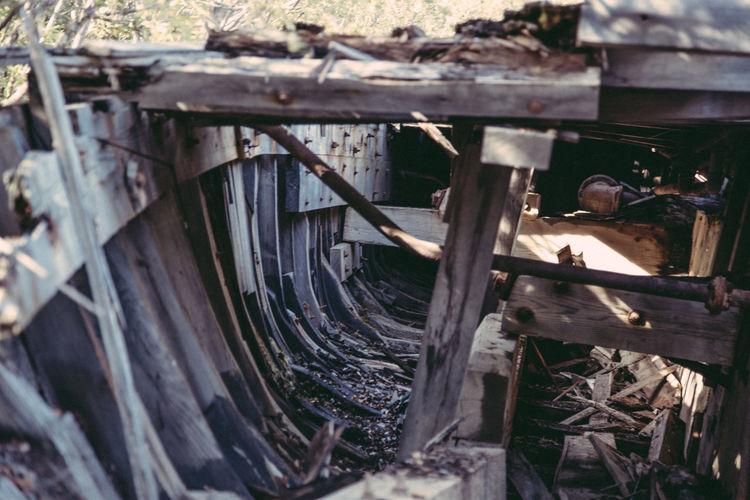 Abandoned Canada Close-up Dawson Dawson City  Day Metal No People Outdoors Shipwreck Water Wheel Wood - Material Yukon