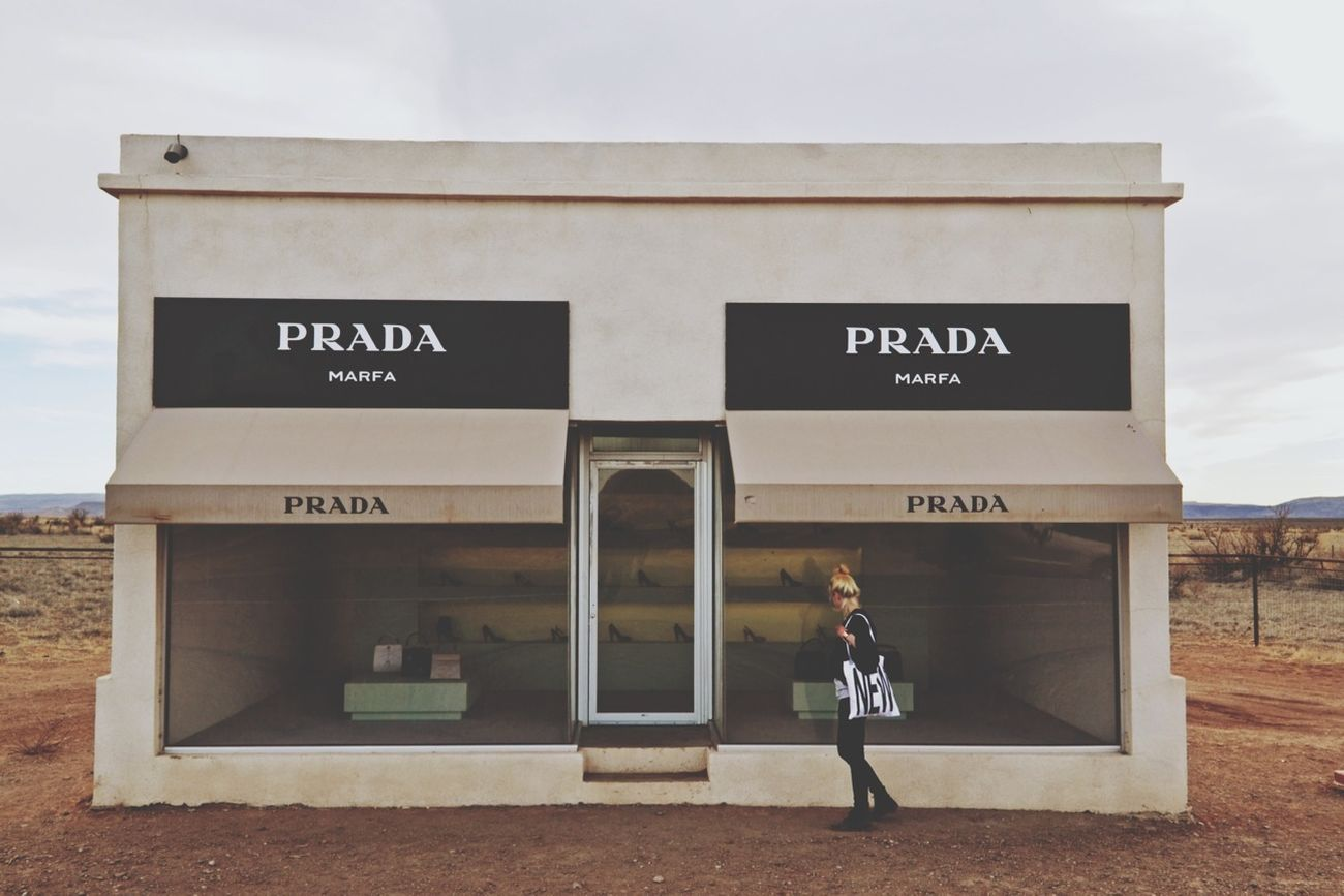Window Shopping NEW Tote Bag Prada Marfa Marfa