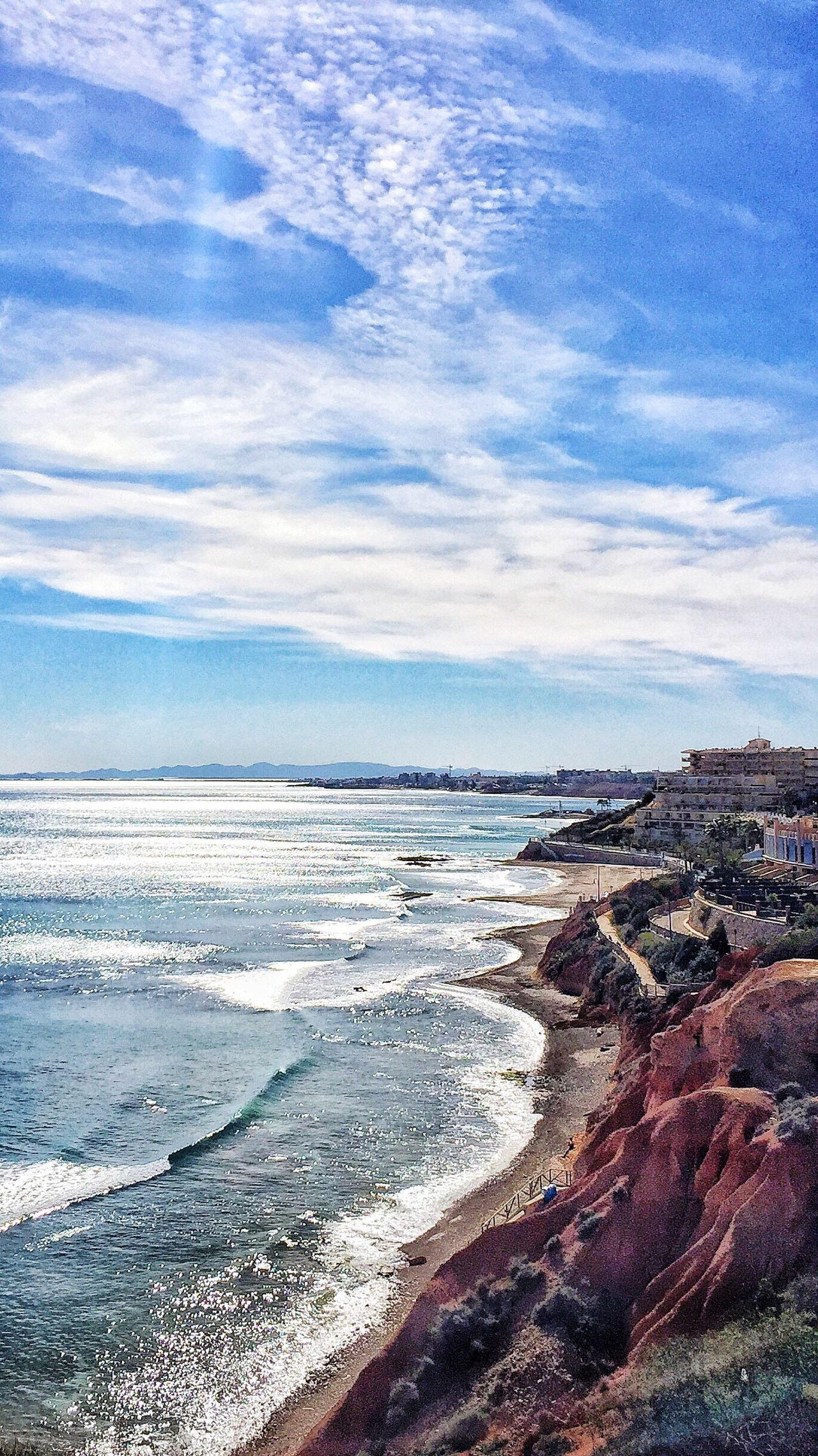 Coastline View from Orihuela  Cliff top across towards La Manga and San Javier in the Murcia area of Southern Spain♥ of the Mediterranean  Mediterranean Sea Sea Sea And Sky Sea And Sun Sea And Rocks Sea And Clouds Sea And Sand