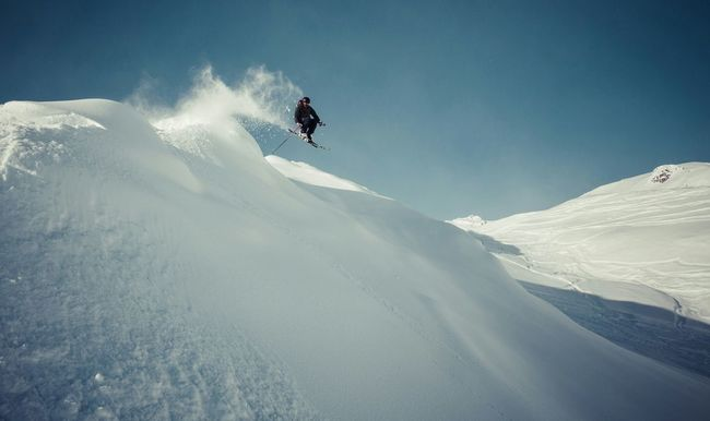 That's Me Skiing Mountains Backcountry Freeride Powder Champagne Powder Jump Adrenaline Junkie My Winter Favorites Need For Speed My Favorite Place