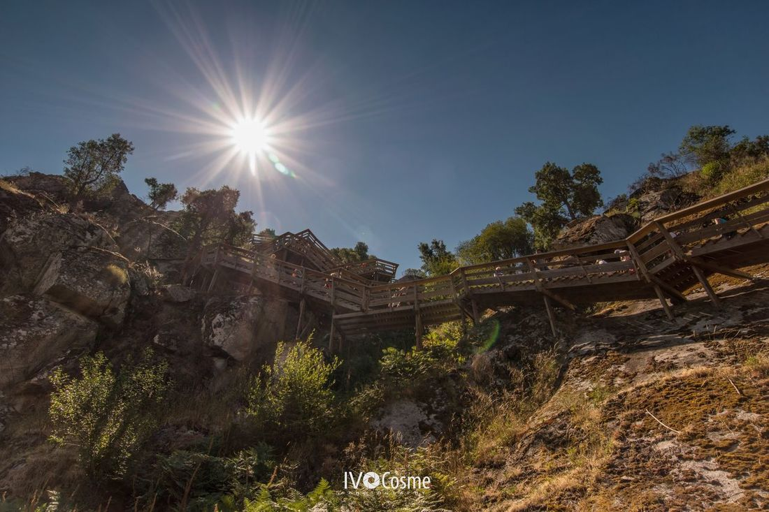 Sun Sunbeam Sunlight Built Structure Lens Flare Architecture Day No People Travel Destinations History Low Angle View Building Exterior Outdoors Nature Sky Passadiços Do Paiva Arouca Portugal 🇵🇹