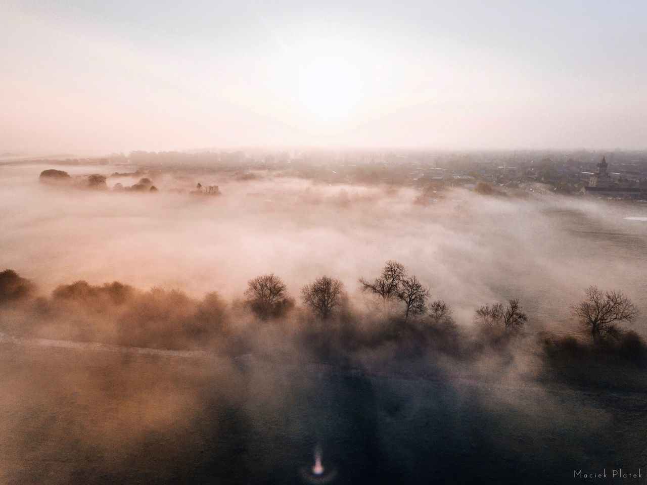 Good Morning Fog! Beauty In Nature Nature Mist Scenics Tranquil Scene Tranquility Hazy  Water Fog Idyllic No People Outdoors Sky Tree Day Landscape