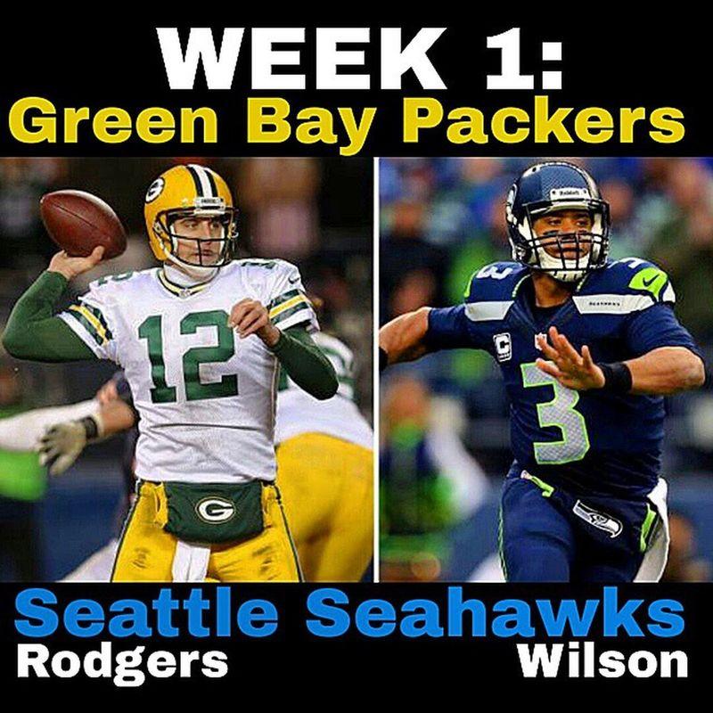 Packers Vs Seahawks WEEK 1 of the 2014 NFLSeason Tonight