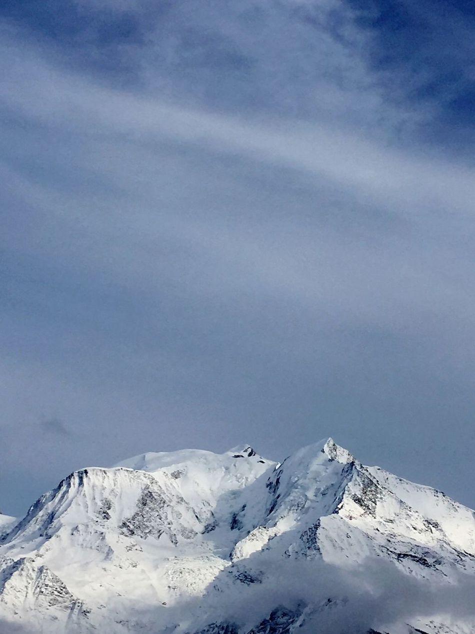 Mont Blanc ... 4810 m ... Beau Montblanc Skiing Mountains Mountain View Bettex Saint Gervais