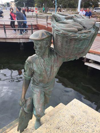 Sculpture Fremantle, Western Australia Fishing Boat Harbour Fisherman Harbour View