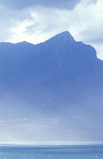Clouds And Sky Cold Temperature Fog Foggy Gardasee Lago Di Garda Lake Landscape Mountain Rain Storm Water
