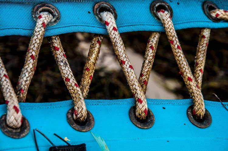 Hanging Childhood Swing Rope Focus On Foreground Blue Metal Day Clothespin Outdoor Play Equipment Selective Focus Laundry Man Made Object Watersports Near Close-up Sail Sailing Catamaran Pattern in Catalunya