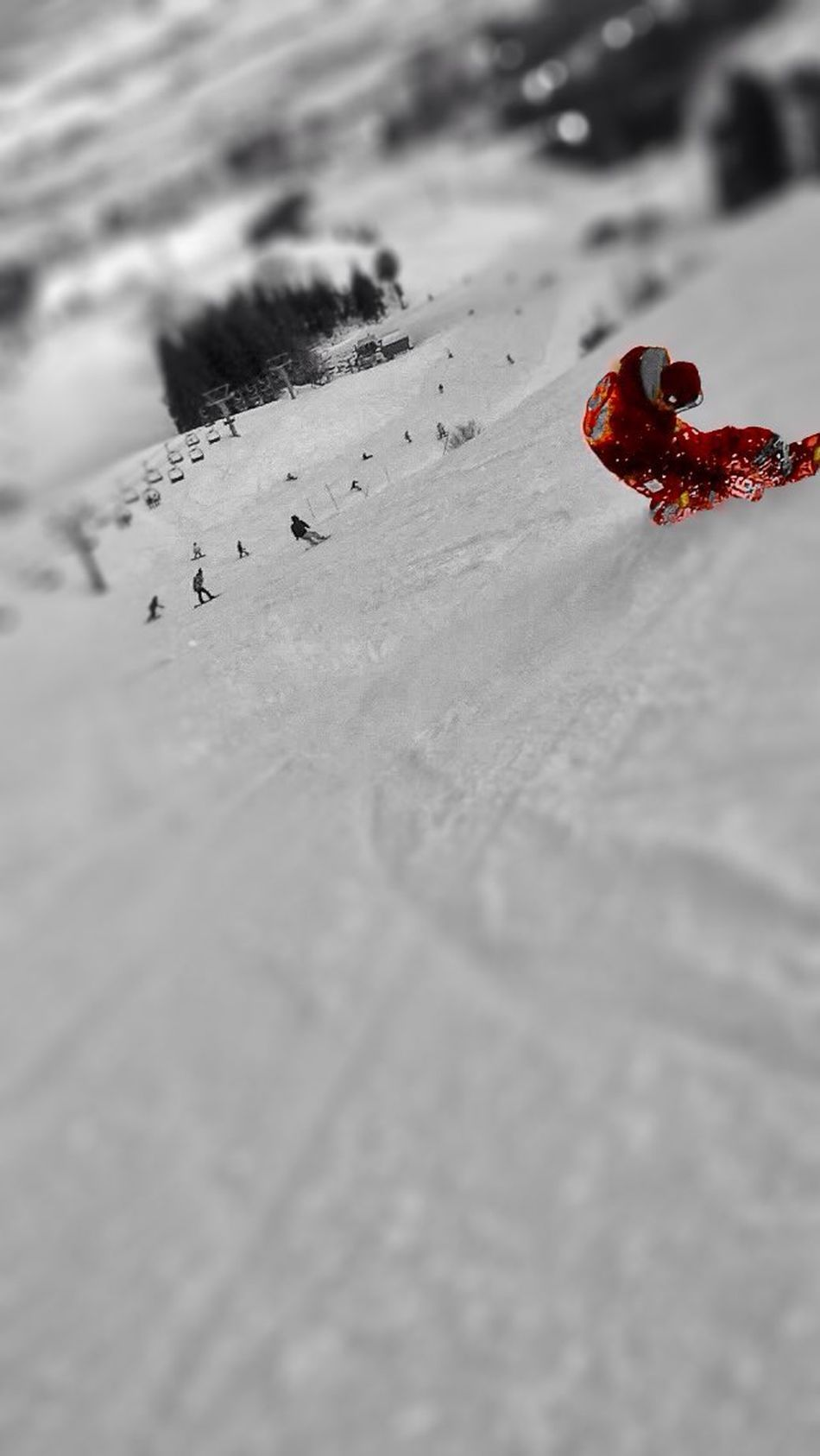 Enjoying Life Silhouette Black And White Snowboarding Rivers Turn