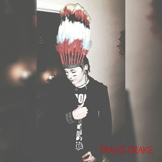 Happy Halloween, from yours truly. Decided to be a little different. Happyhalloween Ftm Transman TravisDrake Nativeheaddress Native Headdress Punk Grunge Warpaint Painted Facepaint