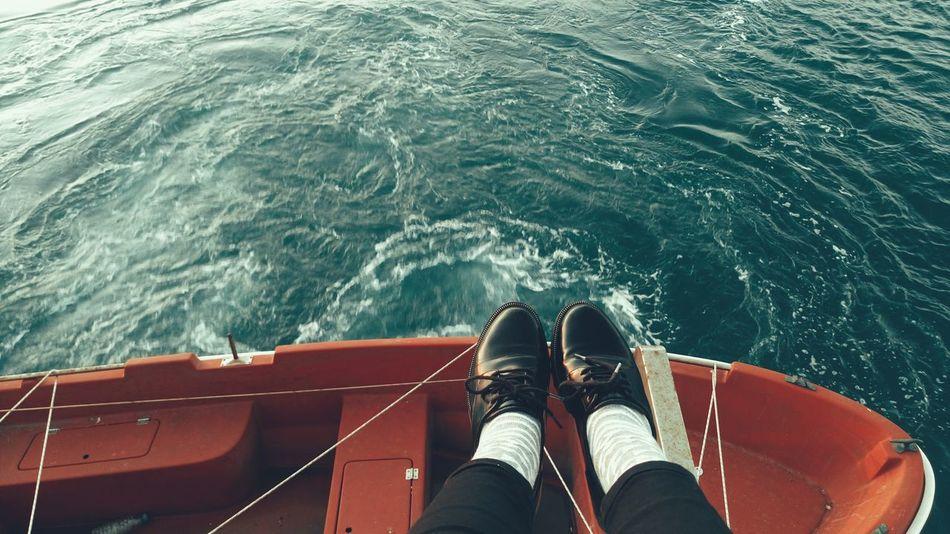Water Person Sea Nautical Vessel Transportation Boat Day Shoe Vapur Ve İstanbul Vapur Follow Follow4follow Followme City Life Water Low Section Person Sea Nautical Vessel Relaxation Sitting Transportation Solitude Rippled Boat