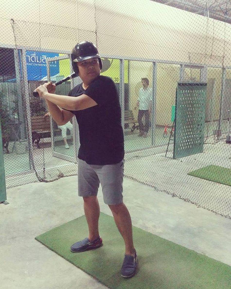 Life is too stress, let't bat it away!! Baseball Batting Battingcages Bangkokbattingcages