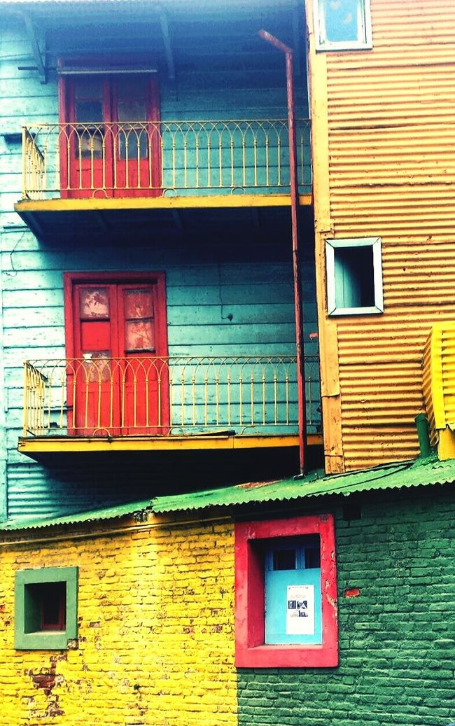 La Boca Buenosaires EyeEm Buenos Aires Arquitecture Colorful Neighborhood Windows_aroundtheworld Lines And Shapes Hello World Traveling