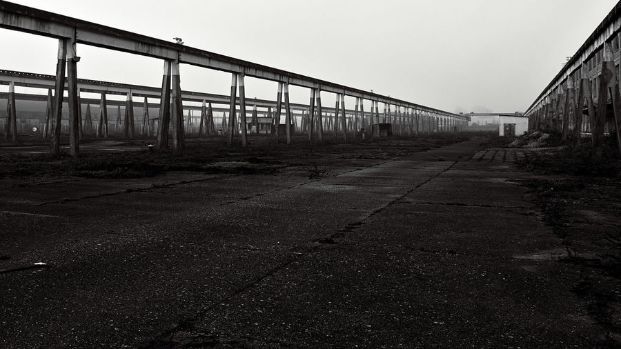 Abandoned Factories Brownfield Land Composition Industrial Nature Perspective Postprocessing Structure Vanishing Point