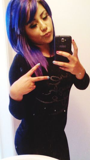 Check This Out Purplehair Pretty :) Beautiful ♥ Purplehairdontcare Purple ♥ Beauty Pretty Girl
